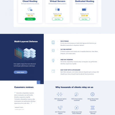 custom webhosting template