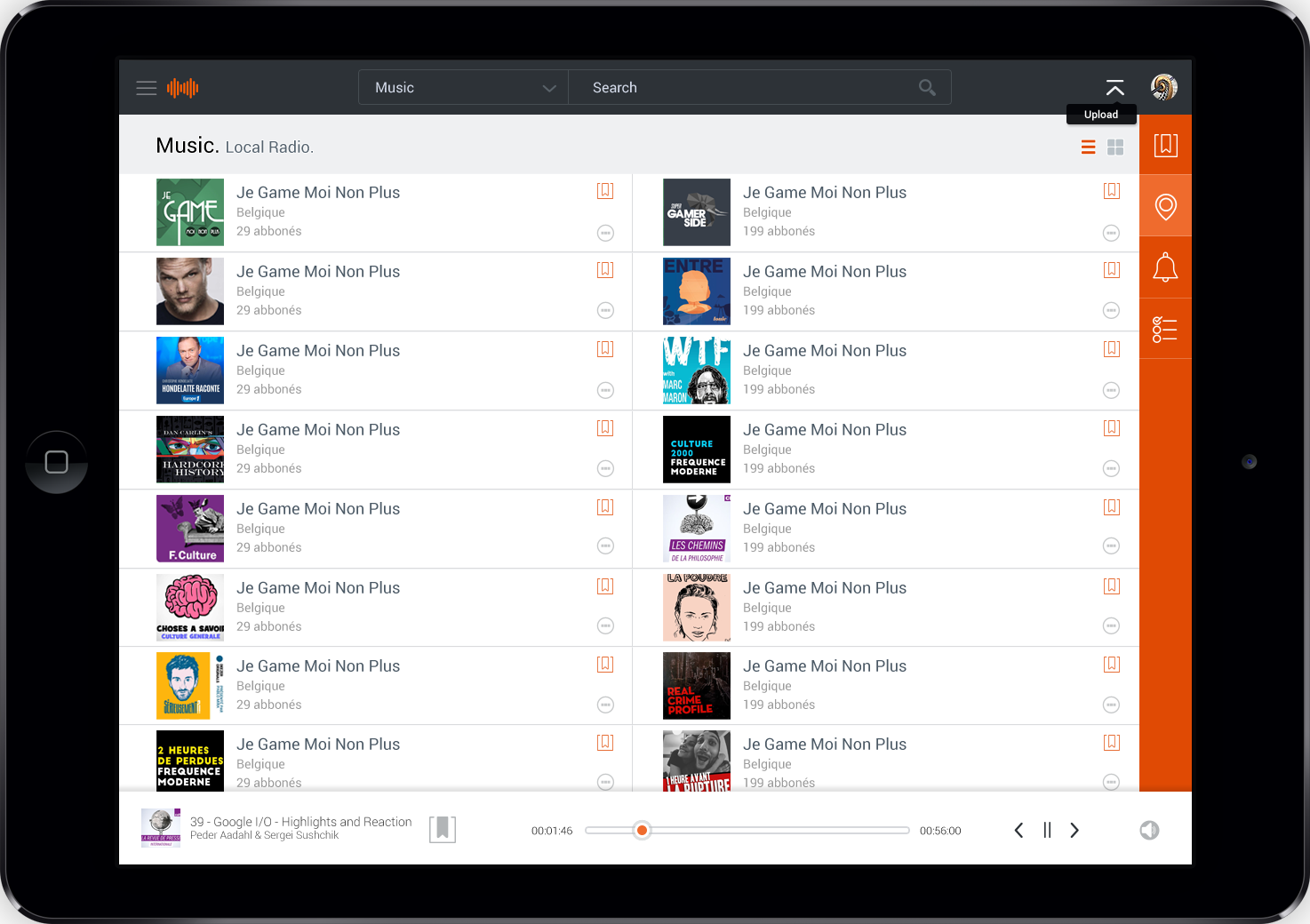 ipad view podcast finder app