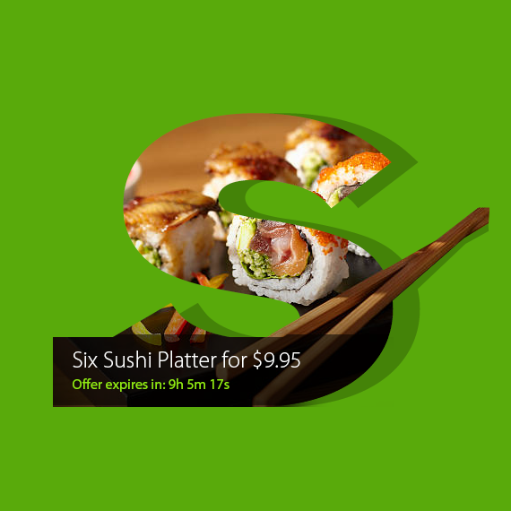 sushi delivery app ui ux